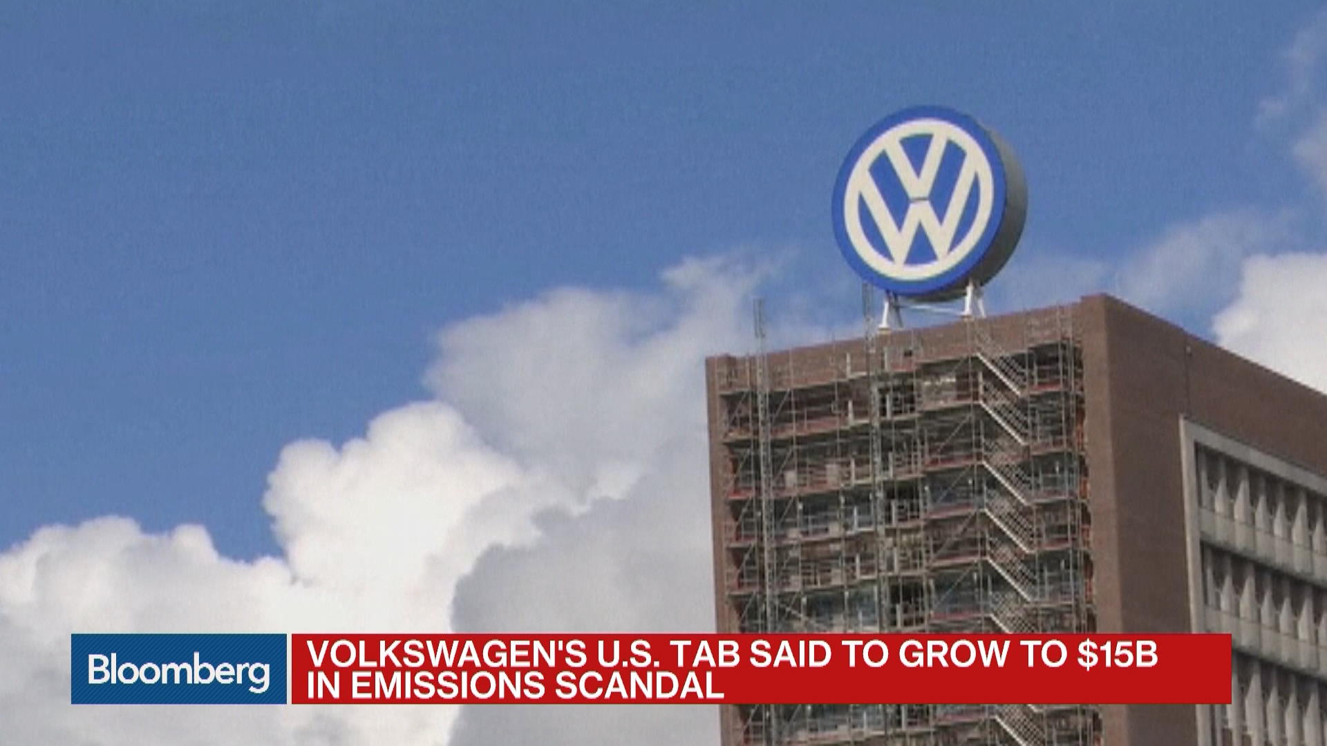 Volkswagen Said to Face $15B Tab in U S Settlement – Bloomberg