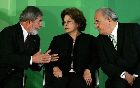 Lula, Rousseff and Jobim.