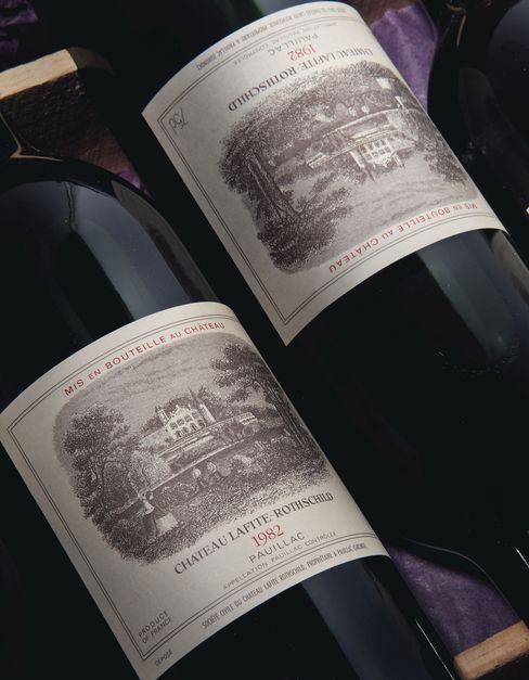 Bottles of Chateau Lafite-Rothschild