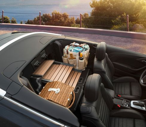 With back seats folded down, the Buick Cascada is picnic-capable.