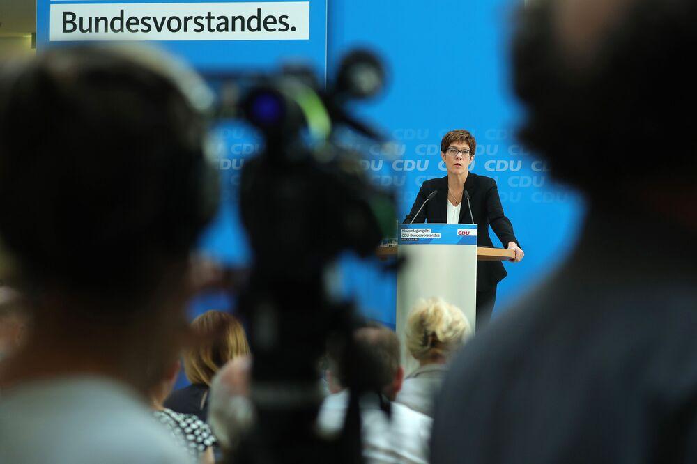 Angela Merkel's Chosen Successor Goes All In