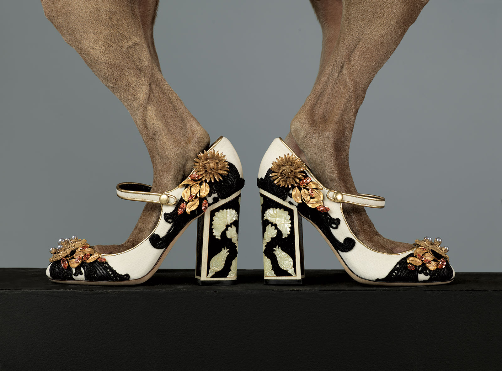 Embellished Mary Janes by Dolce & Gabbana