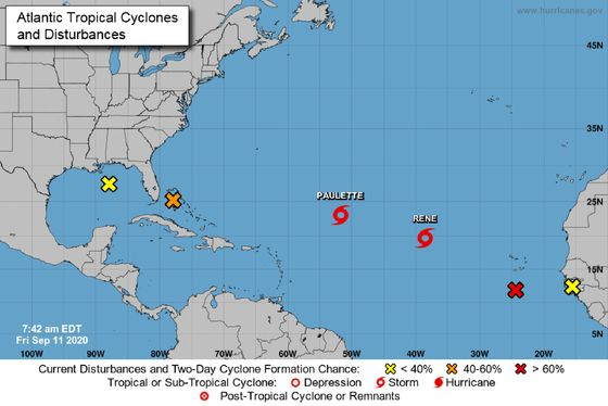 Storm Threats Loom Across Atlantic From Gulf of Mexico to Africa