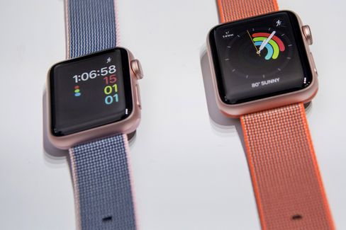 The Apple Watch 2 displayed during an event in San Francisco on Sept. 7.