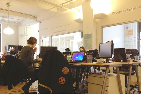 Displaced Workers Find Impromptu Co-Working Spaces