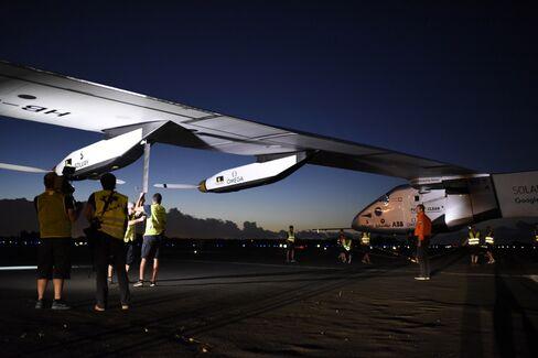 The Solar Impulse2 aircraft.