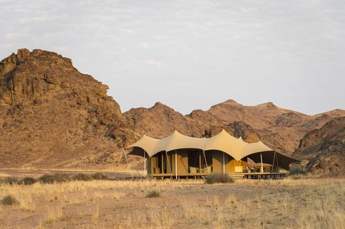 Hoanib Camp, the Wilderness Safaris property that figures in the Vanishing Kings story.