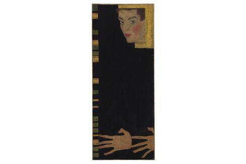 Egon Schiele, Selbstbildnis Mit Gespreizten Fingern,1909