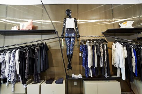 Inside Bandier's permanent athletic wear store in Southampton, NY.