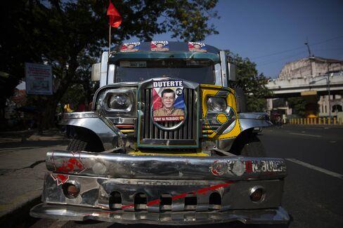 Davao City Mayor and Presidential Candidate Rodrigo Duterte Attends Election Rally
