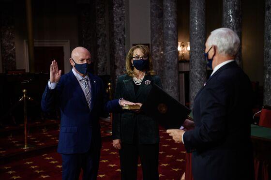 Mark Kelly Sworn In to Senate, Shrinking GOP Majority