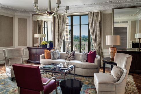 The living room of the St. Regis's Presidential Suite.