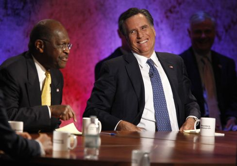 Cain Difficulties Are Romney Gain as Former Governor Hoards