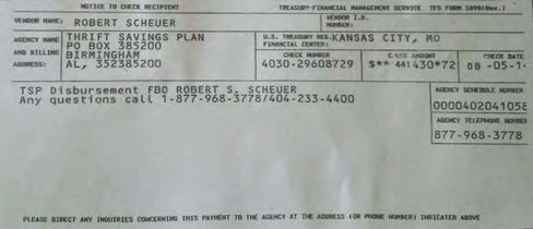 The infamous check stub.