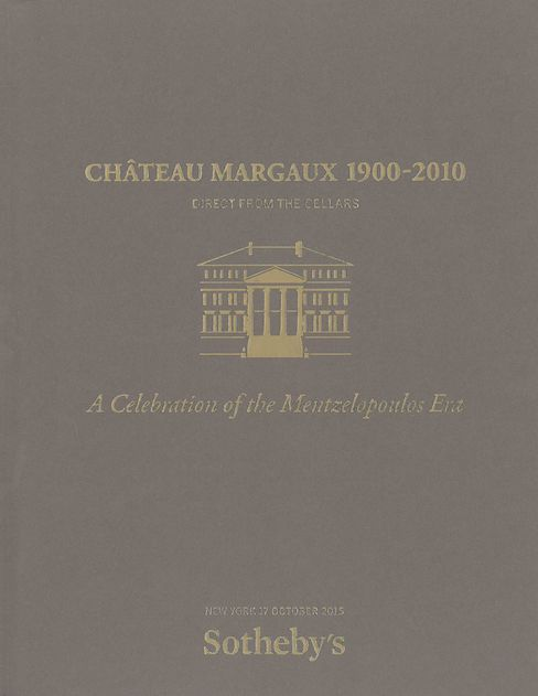 The catalog for the Château Margaux Sotheby's sale.
