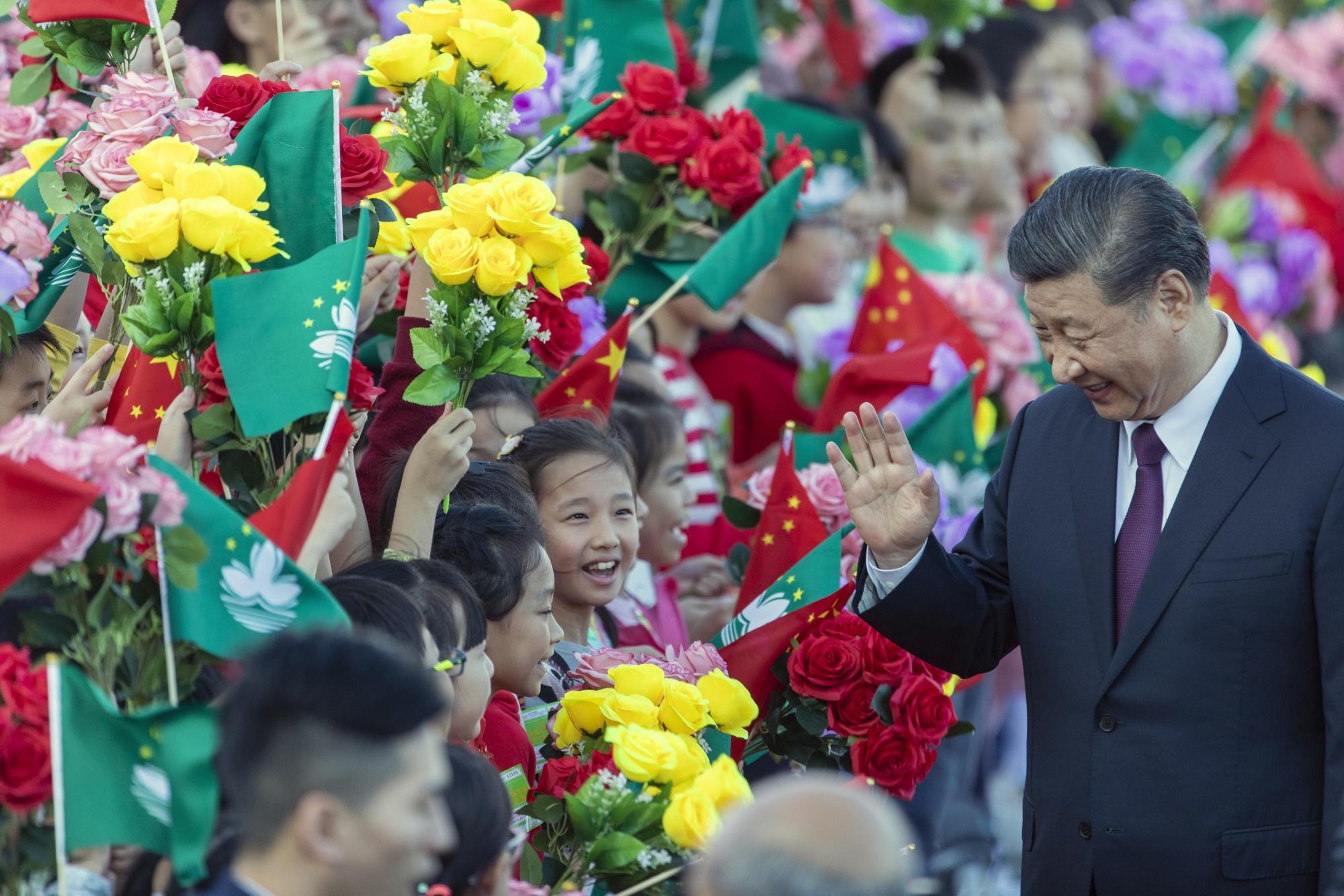 中国国家主席习近平出席澳门特别行政区成立20周年庆祝活动