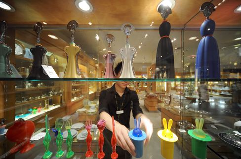 Alessi Kitchenware Sits in a Store