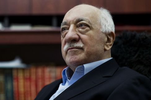 Turkish Muslim cleric Fethullah Gulen, sits at his residence in Saylorsburg, Pa. in 2014.