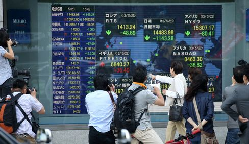 Asian Stocks Rise as Japan's Topix Index Rebounds From Slump