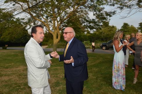 John Paulson and Howard Lorber at the Southampton Hospital benefit Saturday night