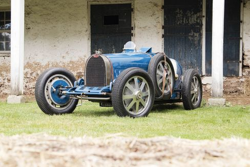 The 1931 Bugatti Type 51 has an eight-cylinder engine on a four-speed manual transmission. It was known for being extremely fast and agile back in its day. This is the first time this example has gone on sale at a public auction