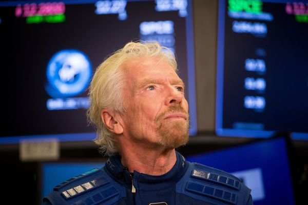 Trading On The Floor Of NYSE As Virgin Galactica Releases IPO