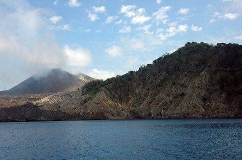 An above-water view of Barren Island
