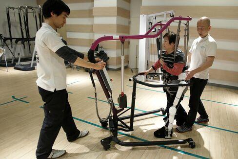 Cyberdyne's lower-limb model Hybrid Assistive Limb