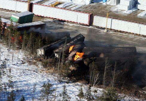 Train Derailment in New Brunswick