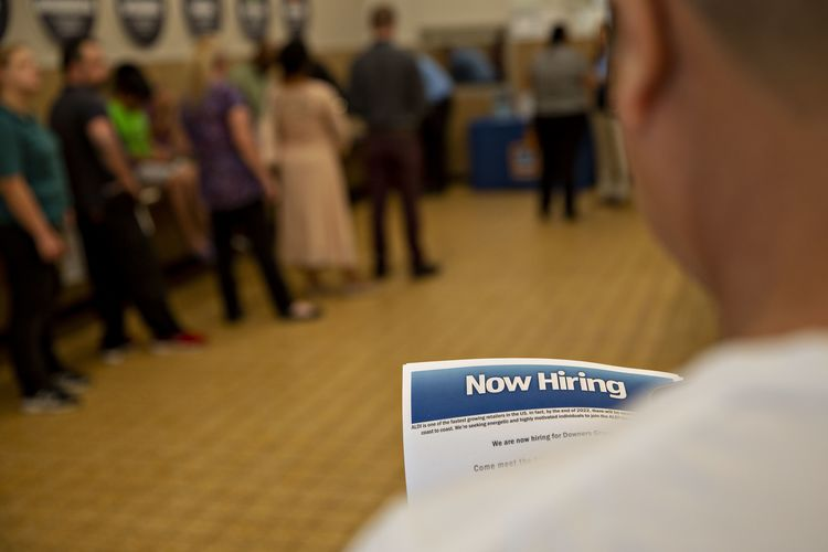Inside An Aldi Stores Hiring Event As Jobless Claims Decline