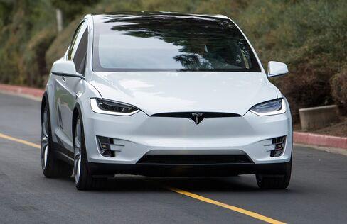 The Tesla Motors Inc. Model X sports utility vehicle.