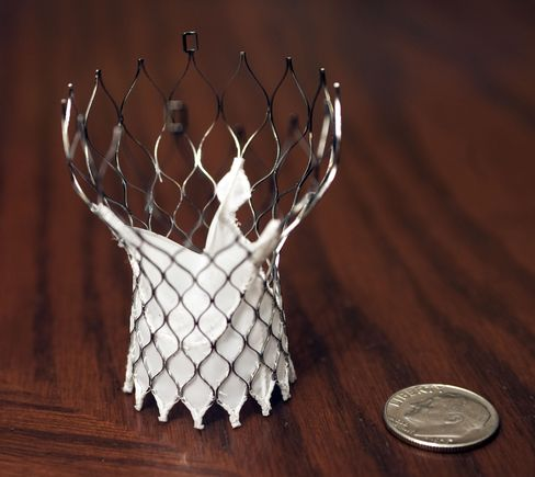 A Medtronic Inc. CoreValve Transcatheter Aortic Valve System