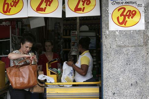 Shoppers in Brazil