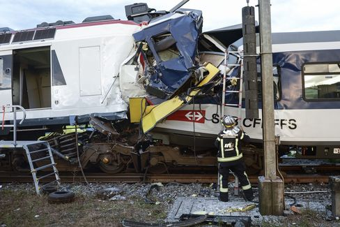 Swiss Head-On Train Collision Leaves 40 Injured, Police Say